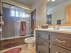 There are 2 pristine bathrooms in the home.