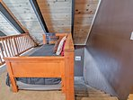 Head up to the loft to find more sleeping accommodations.