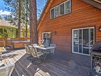The furnished patio offers exquisite views and a private hot tub.