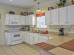 All of the necessary tools and appliances can be found in the fully equipped kitchen.
