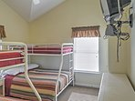 The bunk room is perfect accommodations for your children.