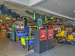 The arcade provides endless entertainment!