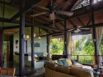 Enjoy the beautiful wood beam structure of the Casa Vista Azul