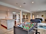 Game, fire place room and second kitchen for entertaining; great for kids and teens