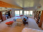 Family room downstairs with access to lower patio and hot tub
