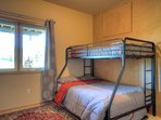 Downstairs bunk room with trundle bed