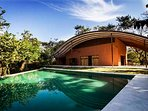 Casa Wave ocean view home with infinity pool, surrounded by jungle and wildlife