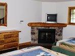 Bedroom #1 - TV, Fireplace