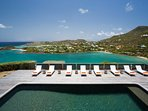 Villa Cosmos St Barts,Pool and view over sea