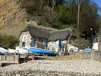 View towards Shanklin Chine, with wonderful, Fisherman's Pub