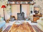 Sitting room wood burner