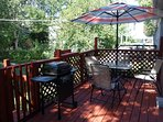 spacious deck with gas grill for relaxing outdoor