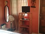 Main floor 4th bedroom with 1 Double Bed. Personal private balcony area. A/C, safe, flat screen DVD