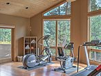 The exercise room allows you to stay in shape, even while on vacation!