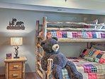 Kids will love choosing between the bottom and top bunk of this twin-over-queen bunk bed!