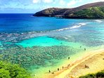 Hanauma Bay for snorkeling on 3.9 miles drive from he house