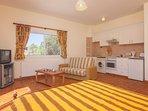 Studio 001 Living Area with Kitchen