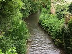 Small stream at one of the many walks behind Bourton