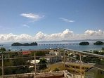 Awesome view of bay from balcony. Walking bridges.