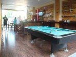 Pool table free for all guests to play.