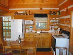 The kitchen supplied with all the conveniences of home.