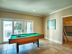 2nd Floor Game Room feat. A Pool Table and Laundry Room