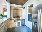 Calypso Outside Summer Kitchen feat. Stainless Steel Appliances, Fridge, Ice Maker, Grill