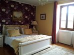 Spacious Bedroom 1. Super-king bed, dressing table, built-in wardrobes, satellite TV and DVD player