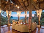 Sit and enjoy these ocean views, while overlooking the jungle below
