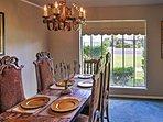 Enjoy fancier meals at this elegant dining table.
