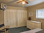 There's plenty of storage space in the bedrooms, so you can really make yourself feel at home!