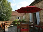 Large gite with private pool and stunning views.  2 houses private courtyard.