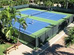 Our two resurfaced tennis courts for our guests' use.