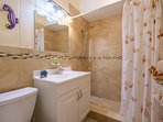 Newly renovated hallway guest bathroom