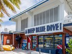 Book your next dive or snorkel trip at Deep Blue Dive Shop that is just a 3-4 minute walk