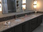 Large Master Bathroom with Double Sinks