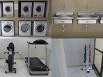 Lavanderia coletiva, tanques para lavagem de roupa e miniacademia: conforto e lazer sem sair de casa