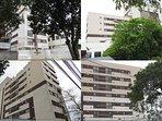 Fachada do prédio: ótima localização em uma das regiões mais valorizadas de Curitiba, perto de tudo