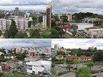 Do terraço, vistas espetaculares das partes mais lindas de Curitiba, Capital do Paraná