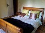 Oak beamed Bedroom 3. Spacious with double bed, and en-suite shower room.