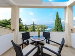 Apartment 3 balcony offering lovely views of Tiha bay