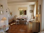 Dining area, seats up to 8, (1-2 high chairs available) open onto dining terrace wonderful sea view