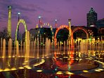 Centennial Olympic park is beautiful during the holidays