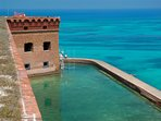 Fort Jefferson on one of our extended charters in four nights one way and six nights round trip