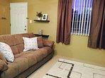 Living Room with comfy sleeper sofa