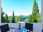 Apartment 1 balcony offering lovely views of Tiha bay