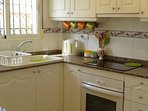 Bright, modern and fully equipped kitchen