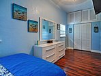 Blue walls remind you of the ocean!