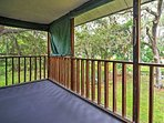 Enjoy the lush tree views from the deck.