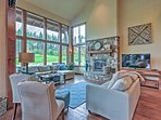 Large windows in the living room provide you with amazing views.